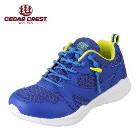 セダークレスト CEDAR CREST CC-3075 キッズ・ジュニア ランニングシューズ キャタピースマート 靴ひも 結ばない 子ども 男の子 ローカットスニーカー 体育 運動 通学 スポーツ ブルー