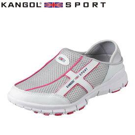 カンゴールスポーツ KANGOL SPORT スポーツサンダル KG8780AA レディース靴 靴 シューズ 3E相当 クロッグシューズ 2WAY 二通り かかと 踏める 大きいサイズ対応 グレー
