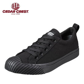 セダークレスト CEDAR CREST CC-9276W レディース靴 2E相当 レースアップ カジュアルスニーカー 撥水 はっ水 はっすい シンプル 定番 小さいサイズ対応 大きいサイズ対応 ブラック×ブラック