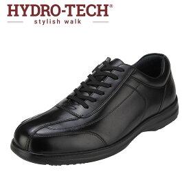 ハイドロテック スタイリッシュウォーク HYDRO TECH HD1345 メンズ靴 3E相当 スポーツシューズ ウォーキングシューズ 防水 軽量 本革 カップインソール 反射 反射材 大きいサイズ対応 ブラック