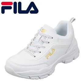 フィラ FILA FC-5901J キッズ靴 :3E スニーカー 軽量 軽い ストラーダ 厚底 ソール ホワイト