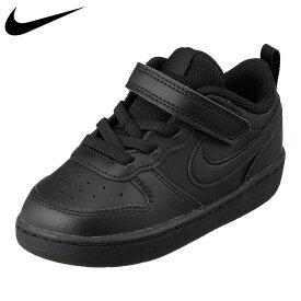 ナイキ NIKE BQ5453-001 キッズ靴 子供靴 2E相当 スニーカー クラシック クラシカル コート バーロウ LOW 2 TD ブラック×ブラック
