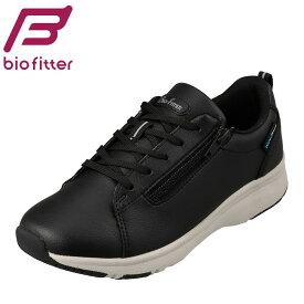 バイオフィッター Bio Fitter BF-259 レディース靴 靴 シューズ 3E相当 スニーカー 防水 雨の日 ファスナー付き シンプル 人気 ブラック