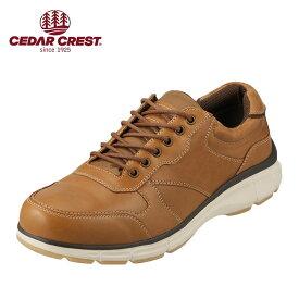 セダークレスト CEDAR CREST CC-1850 メンズ靴 靴 シューズ 3E相当 ローカットスニーカー 本革 レースアップシューズ 幅広 クッション性 アメカジ おしゃれ キャメル