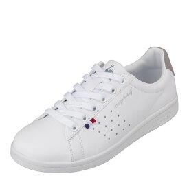 ルコックスポルティフ le coq sportif QL1LJC16WG レディース靴 靴 シューズ 2E相当 スニーカー 軽量 軽い LA ローラン SL 大きいサイズ対応 ホワイト×グレー