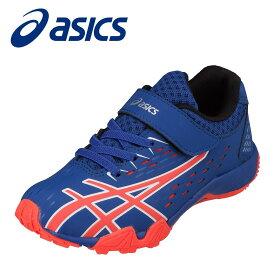 アシックス asics 1154A068 キッズ靴 子供靴 靴 シューズ 2E相当 スポーツシューズ 安定性 走りやすい 消臭 MOFF モフ 中学生 高校生 ブルー×オレンジ