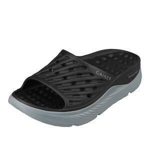 ゲイナー GAINER GN029 メンズ靴 靴 シューズ サンダル リカバリーサンダル シャワーサンダル シャワサン 軽量 軽い 衝撃吸収 ソール ブラック