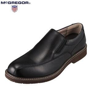 マックレガー McGREGOR MC8026 メンズ靴 靴 シューズ 3E相当 カジュアルシューズ スリッポン 楽 軽量 軽い 小さいサイズ対応 ブラック