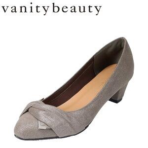 バニティービューティー vanitybeauty VA94375 レディース靴 靴 シューズ E相当 パンプス アーモンドトゥ かかとパッド 脱げにくい クッション インソール グレー