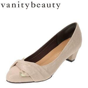 バニティービューティー vanitybeauty VA94375 レディース靴 靴 シューズ E相当 パンプス アーモンドトゥ かかとパッド 脱げにくい クッション インソール ベージュ