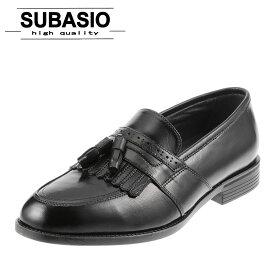 スバシオ SUBASIO 4676 メンズ ビジネスシューズ タッセル スリッポン やわらか シンプル 定番 ブラック