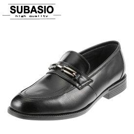 スバシオ SUBASIO 4678 メンズ ビジネスシューズ ビット スリッポン やわらか シンプル 定番 ブラック