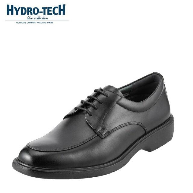 [マラソン期間中ポイント5倍]ハイドロテック ビジネスシューズ HYDRO TECH ブルーコレクション HD1324 メンズ靴 靴 シューズ 3E ビジネスシューズ 防水 本革 外羽根 Uチップ 軽量 軽い ビジネス 通勤 仕事 衝撃吸収 滑りにくい 雨の日 大きいサイズ 対応 28.0cm ブラック