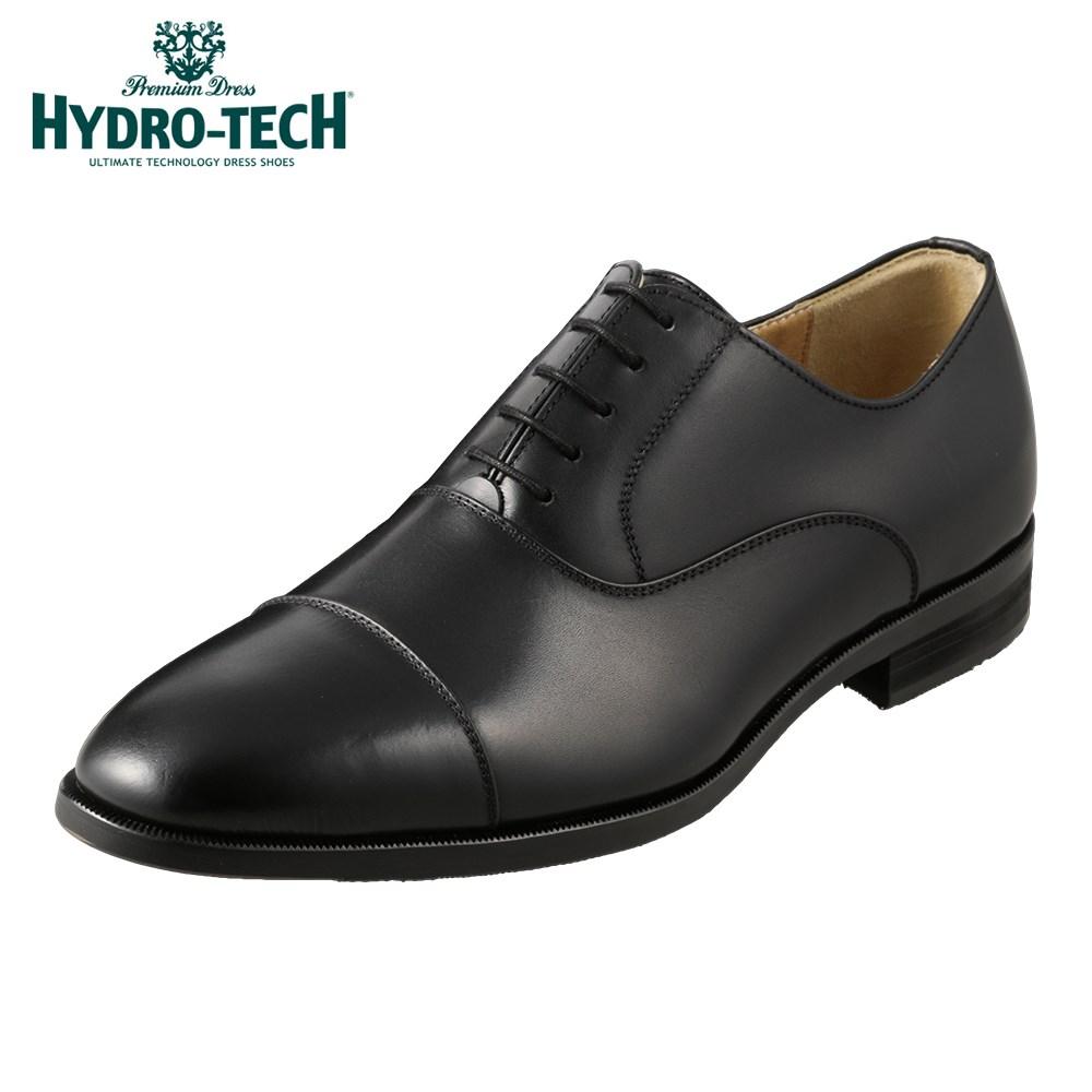 ハイドロテック ビジネスシューズ HYDRO TECH プレミアムドレス HD1809 メンズ靴 靴 シューズ 3E ビジネスシューズ 防水 本革 内羽根 ストレートチップ 日本製 国産 高級感 ビジネス 通勤 仕事 フォーマル ドレスシューズ 小さいサイズ 対応 24.5cm ブラック