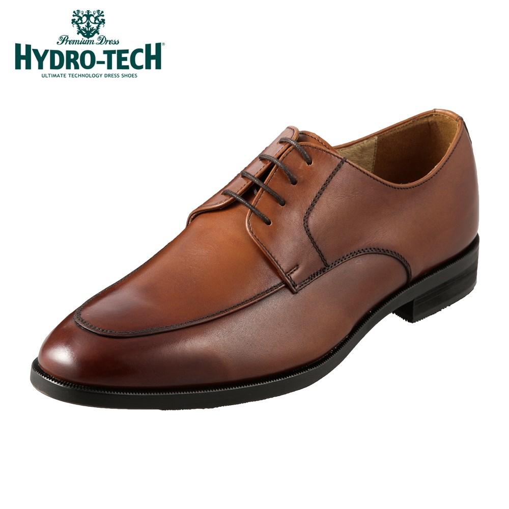 ハイドロテック ビジネスシューズ HYDRO TECH プレミアムドレス HD1810 メンズ靴 靴 シューズ 3E ビジネスシューズ 防水 本革 外羽根 Uチップ 日本製 国産 高級感 ビジネス 通勤 仕事 歩きやすい ドレスシューズ 小さいサイズ 対応 24.5cm ブラウン
