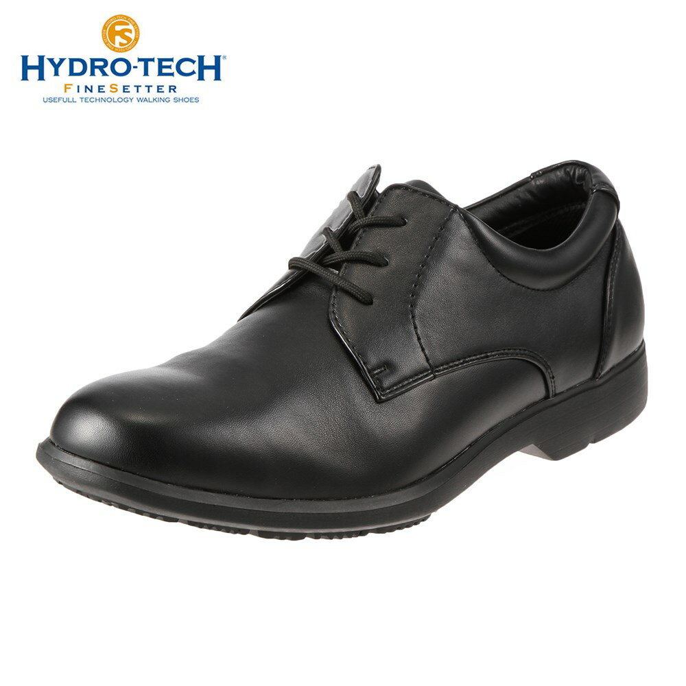 [全商品ポイント5倍]ハイドロテック ビジネスシューズ HYDRO TECH ファインセッター HD 1906 メンズ靴 靴 シューズ 4E ビジネスシューズ 防水 外羽根 プレーントゥ 黒 軽量 軽い ビジネス 通勤 仕事 衝撃吸収 滑りにくい 雨の日 大きいサイズ 対応 28.0cm ブラック