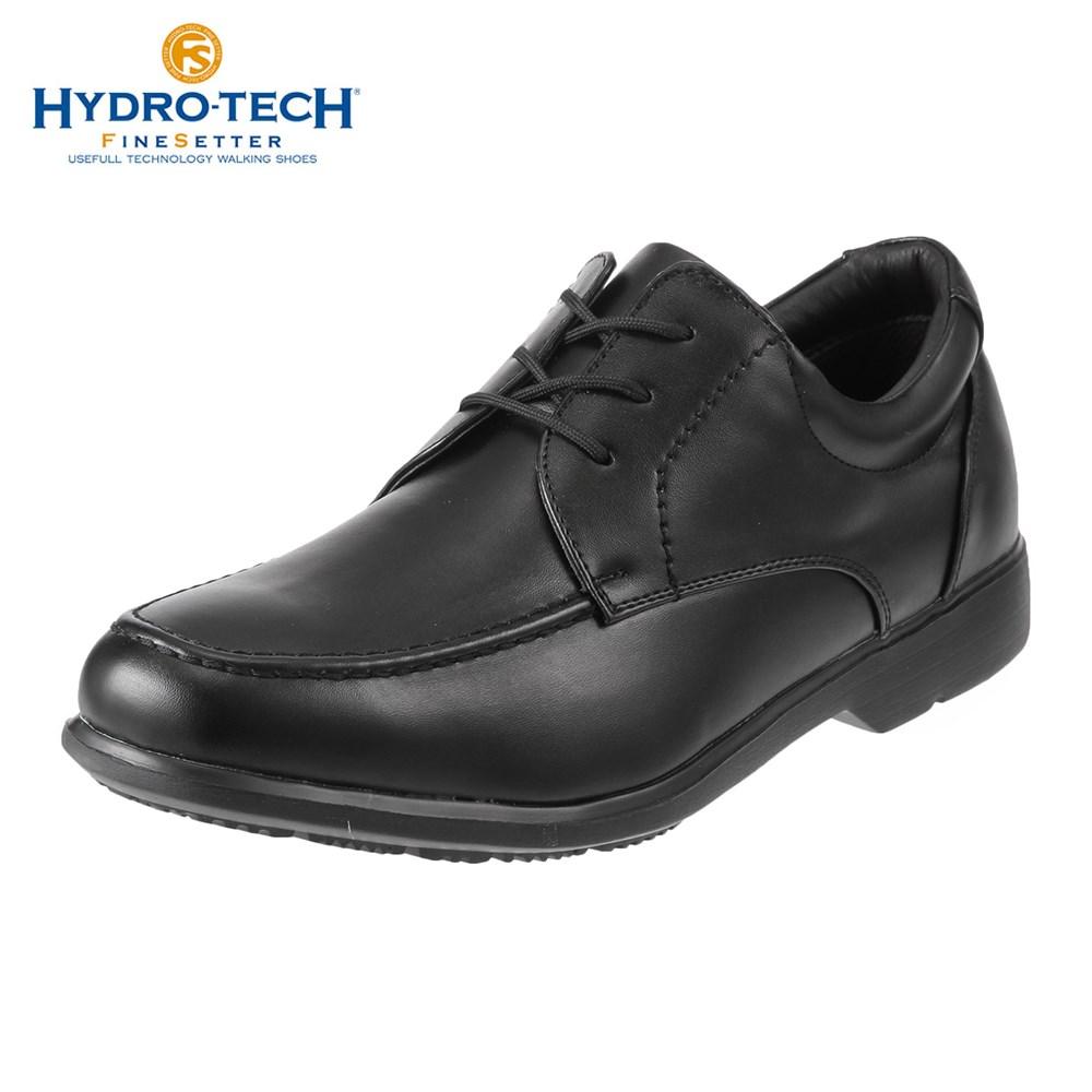 ハイドロテック ビジネスシューズ HYDRO TECH ファインセッター HD 1907 メンズ靴 靴 シューズ 4E ビジネスシューズ 防水 外羽根 Uチップ 黒 軽量 軽い ビジネス 通勤 仕事 衝撃吸収 滑りにくい 雨の日 大きいサイズ 対応 28.0cm ブラック