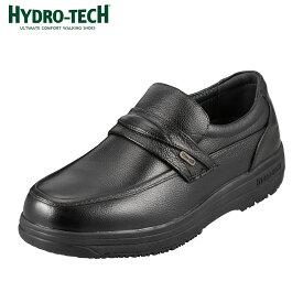 [マラソン期間中ポイント5倍]ハイドロテック ウォーキング HYDRO TECH ウォーキング 6302 メンズ靴 靴 シューズ 4E ウォーキングシューズ 防水 スリッポン 本革 ビジネス 通勤 仕事 黒 衝撃吸収 滑りにくい 雨の日 歩きやすい ブラック