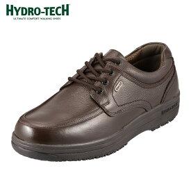 [マラソン期間中ポイント5倍]ハイドロテック ウォーキング HYDRO TECH ウォーキング 6301 メンズ靴 靴 シューズ 4E ウォーキングシューズ 防水 本革 幅広 レースアップ ローカット 衝撃吸収 滑りにくい 歩きやすい チョコ(ダークブラウン)