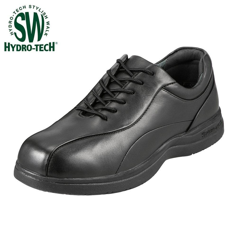 ハイドロテック ウォーキングシューズ HYDRO TECH スタイリッシュウォーク 6325 メンズ靴 靴 シューズ 3E ウォーキングシューズ 防水 本革 軽量 軽い 消臭機能 ローカット 衝撃吸収 滑りにくい 歩きやすい ブラック