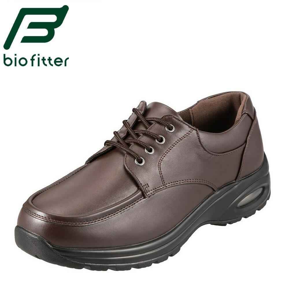 バイオフィッター ウォーキングシューズ Bio Fitter スタイリッシュフォーメン BF-3903 メンズ靴 靴 シューズ 4E ジョギング レースアップ ローカット 幅広 防水 防臭 軽量 滑りにくい 旅行 行楽 お出かけ 大きいサイズ 対応 28.0cm ダークブラウン