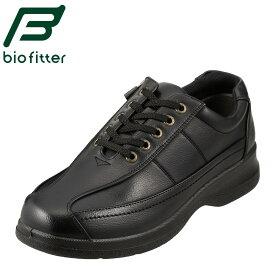 バイオフィッター カジュアルシューズ Bio Fitter ベーシックフォーメン BF-2907 メンズ靴 靴 シューズ 4E コンフォートシューズ ローカット レースアップ 防臭 軽量 幅広 衝撃吸収 紳士靴 革靴 通勤 仕事 大きいサイズ 対応 28.0cm ブラック