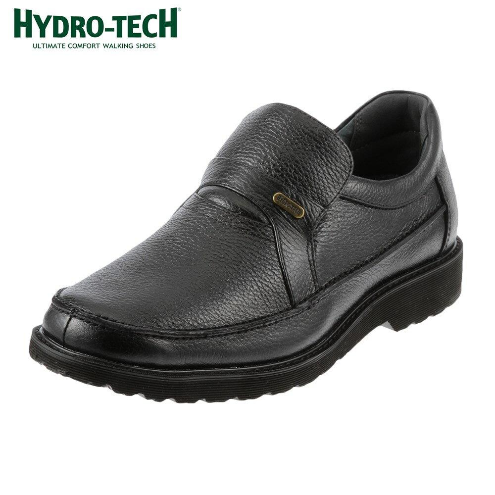 ハイドロテック ウォーキングシューズ HYDRO TECH ウォーキング HD1305 メンズ靴 靴 シューズ 4E ウォーキングシューズ 防水 スリッポン 本革 軽量 軽い ビジネス 通勤 仕事 黒 衝撃吸収 ブラック