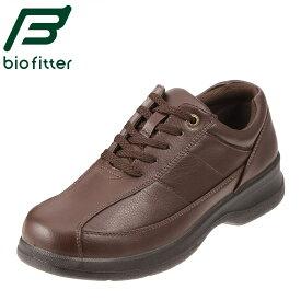 バイオフィッター カジュアルシューズ Bio Fitter ベーシックフォーメン BF-2911 メンズ靴 靴 シューズ 4E コンフォートシューズ ローカット レースアップ 幅広 歩きやすい 通勤 仕事 紳士靴 革靴 大きいサイズ 対応 28.0cm ダークブラウン