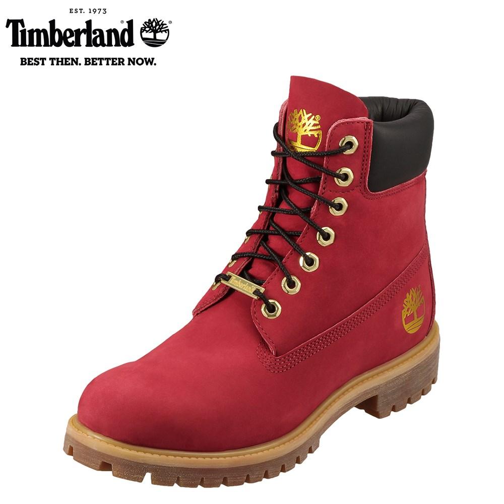 [ティンバーランド] Timberland TIMB A1HRO メンズ | ショートブーツ | 6インチ プレミアム | ミドル丈 カジュアルブーツ | 大きいサイズ対応 28.0cm | レッド ★お取り寄せ★