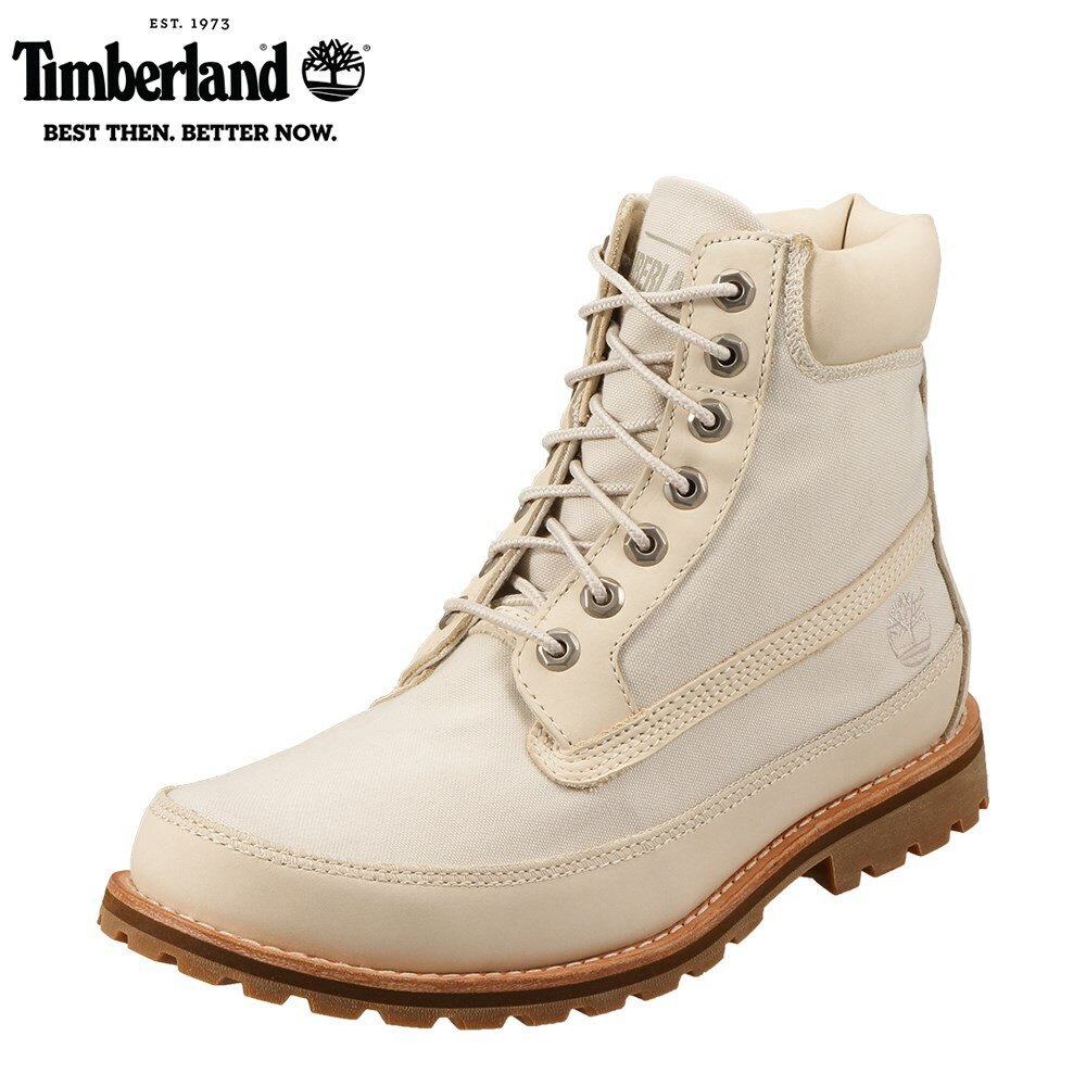 [ティンバーランド] Timberland TIMB A1874 メンズ | ハイカットスニーカー | 6INCHI PREMIUM | キャンバススニーカー | 大きいサイズ対応 28.0cm 28.5cm 29.0cm 30.0cm | ベージュ