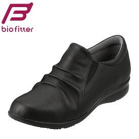 バイオフィッター レディース Bio FitterBFL2735 レディース スリッポン カジュアルシューズ フラットソール 軽量 抗菌 防臭 大きいサイズ対応 25.0cm ブラック