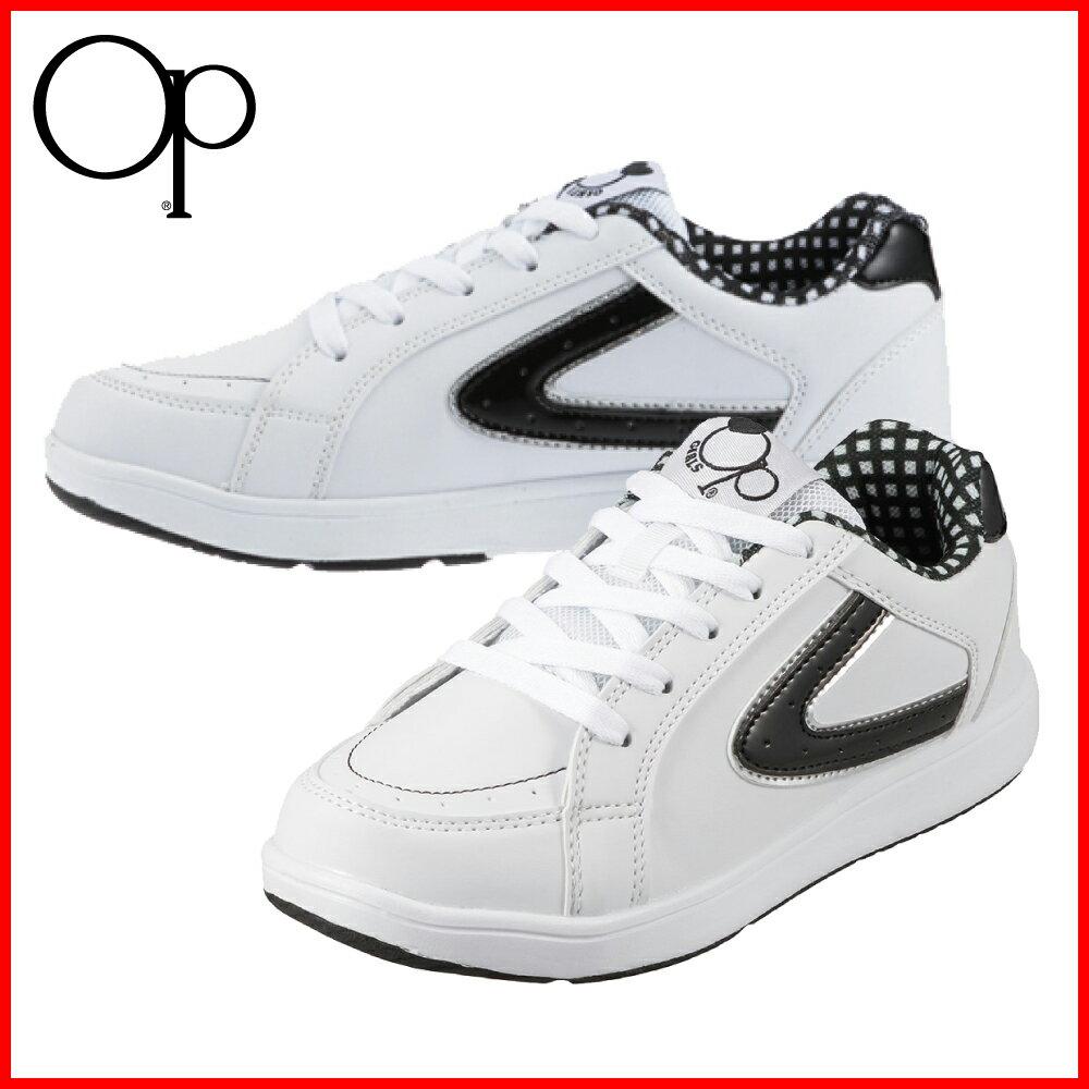 [オーシャンパシフィック] OCEAN PACIFIC OP-5021 レディース | 通学 学校 | ホワイトスニーカー|白スニーカー|白靴|スクールシューズ | ホワイト×ブラック