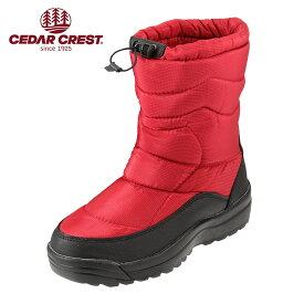 セダークレスト CEDAR CREST CC-9153 メンズ ダウンブーツ ダウンタイプ ショートブーツ 防寒 防水 軽量 大きいサイズ対応 28.0cm 28.5cm レッド