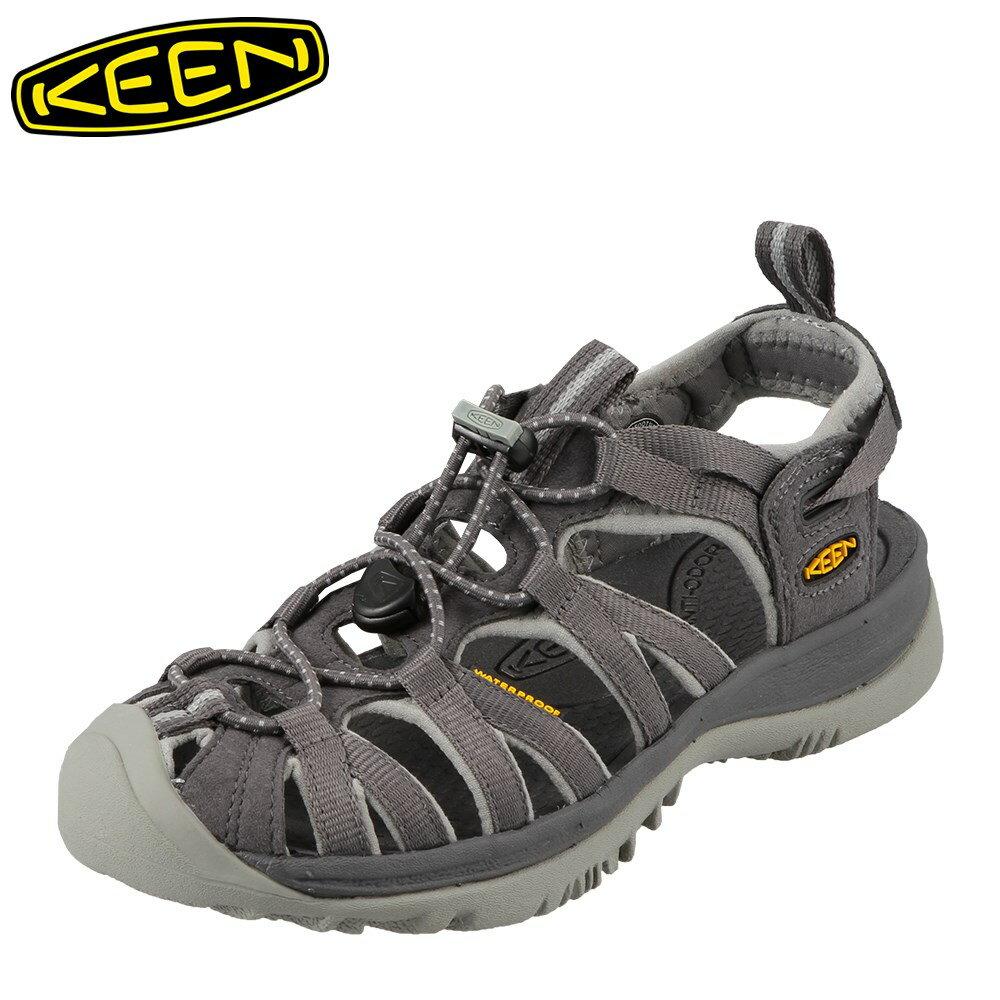 キーン KEEN サンダル ウィスパー 1010965 WHISPER レディース レディース靴 靴 シューズ 23cm - 24.5cm 2E スポーツサンダル スポーツ サンダル アウトドア ビーチサンダル ビーチ 痛くない おしゃれ 軽量 大きいサイズ 滑り止め 歩きやすい グレー 灰色