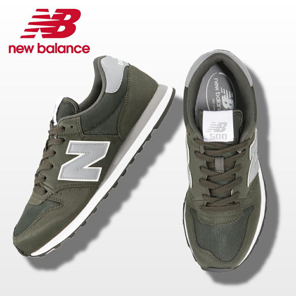 ニューバランス new balance ウォーキングシューズ GM500DGGD メンズ 靴 シューズ D相当 カジュアル スニーカー クラシック 500 ローカット トレーニング ジム スポーツ 大きいサイズ対応 28.0cm 29.0cm ダークグリーン×グレー