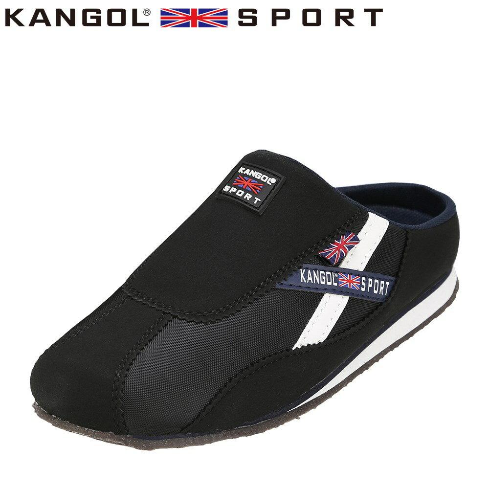 [カンゴールスポーツ] KANGOL SPORT KG9144 レディース | カジュアルサンダル | コンフォートサンダル オフィスサンダル | 軽量 | 大きいサイズ対応 25.0cm 25.5cm | ブラック