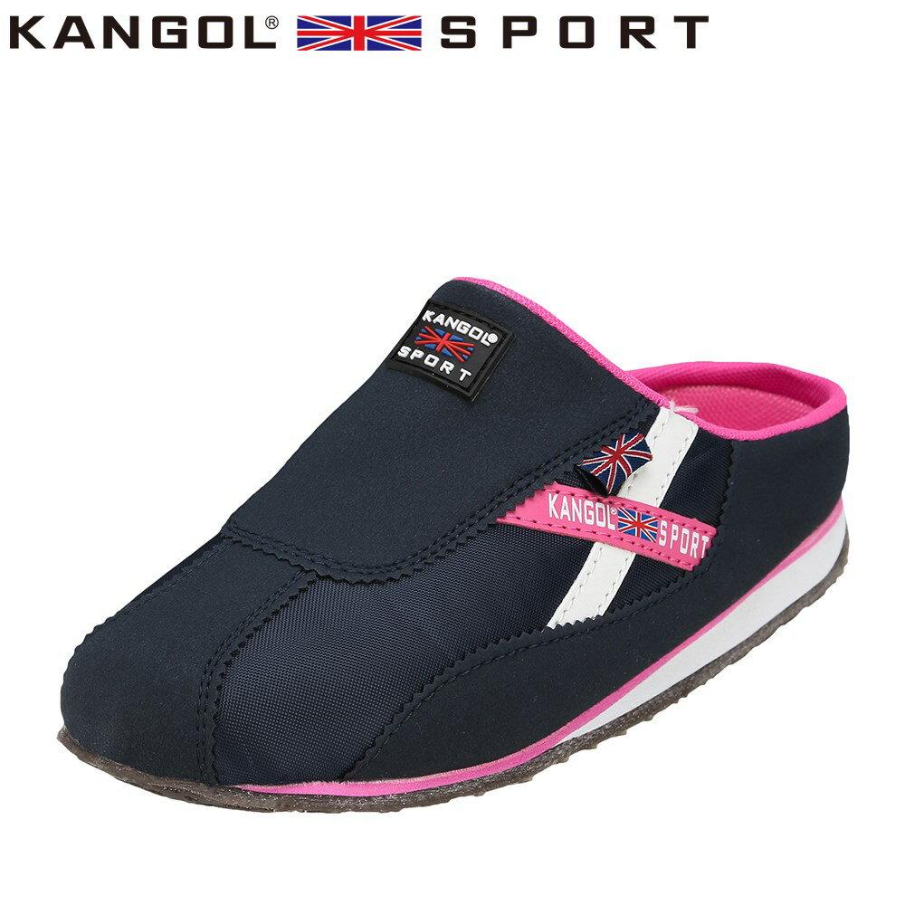 [カンゴールスポーツ] KANGOL SPORT KG9144 レディース | カジュアルサンダル | コンフォートサンダル オフィスサンダル | 軽量 | 大きいサイズ対応 25.0cm 25.5cm | ネイビー