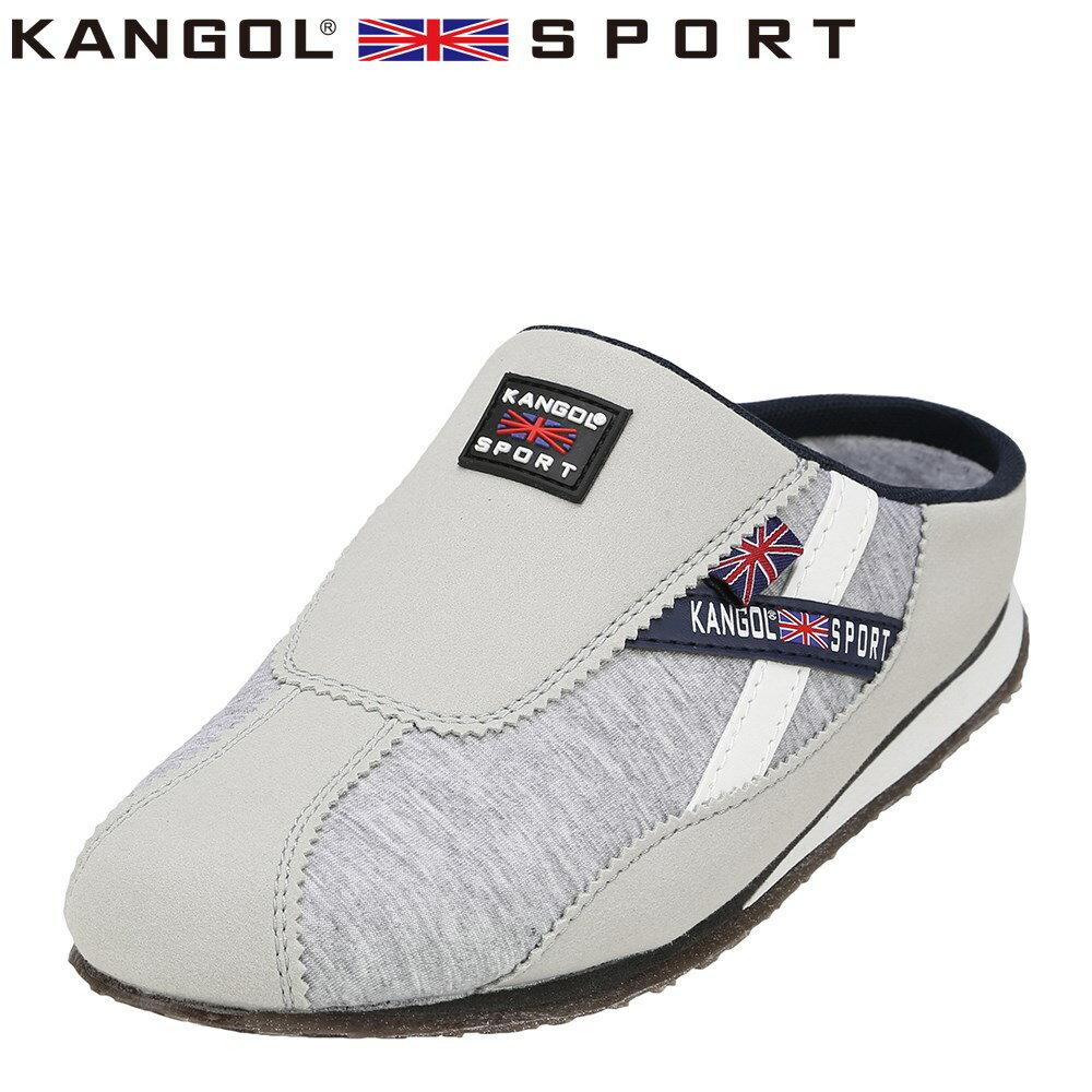 [カンゴールスポーツ] KANGOL SPORT KG9144 レディース | カジュアルサンダル | コンフォートサンダル オフィスサンダル | 軽量 | 大きいサイズ対応 25.0cm 25.5cm | スモーキーグレー