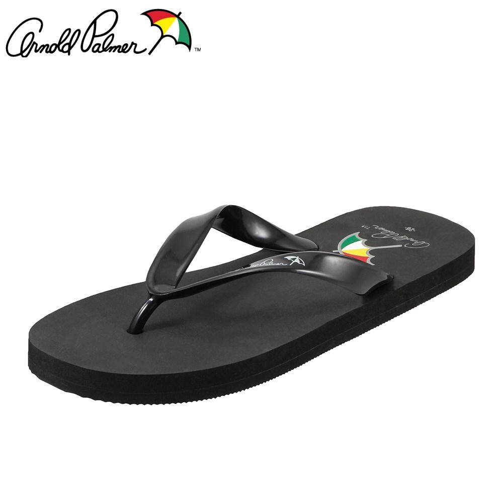 [アーノルドパーマー] Arnold Palmer AP8004 メンズ | ビーチサンダル | トングサンダル カジュアル | バイカラー ぺたんこ | 大きいサイズ対応 28.0cm | ブラック