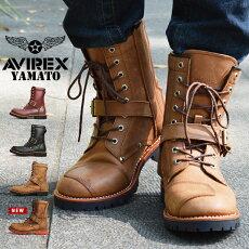 【AVIREX】ハイカットバイカースタイルブーツ