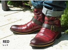 メンズブーツメンズブーツドレープブーツエンジニアブーツショートブーツビンテージブーツサイドジッパーワークブーツ