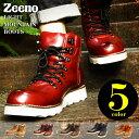 期間限定【送料無料】メンズ ブーツ メンズブーツ マウンテンブーツ +2.5cmUPインソールSET セット ショートブーツ ワークブーツ サイドジップ スエード ヴィンテージ シークレットシューズ 靴 メンズシューズ Zeeno ジーノ/2019 秋冬新作 トレンド