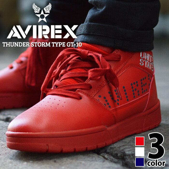 AVIREX アビレックススニーカー メンズ ハイカットスニーカー ミッドカット メンズスニーカー カジュアルシューズ ウォーキングシューズ トレッキングシューズ 軽量 靴 メンズシューズ 靴 ランニングシューズ