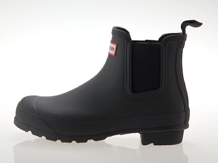 ≪即日発送可能商品≫ [ハンター] HUNTER WOMENS ORIGINAL CHELSEA SHORT BOOT ハンター ウィメンズ オリジナル チェルシー ショートブーツ サイドゴア 長靴 ラバー レインブーツ レディース・メンズサイズ BLACK 黒 ブラック #WFS1043RMA-BLK