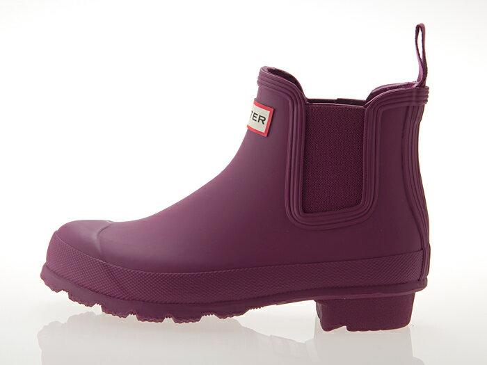 ≪即日発送可能商品≫ [ハンター] HUNTER WOMENS ORIGINAL CHELSEA SHORT BOOT ハンター ウィメンズ オリジナル チェルシー ショートブーツ サイドゴア 長靴 レインブーツ レディースサイズ BRIGHT VIOLET 紫 バイオレット #WFS1043RMA-BVI