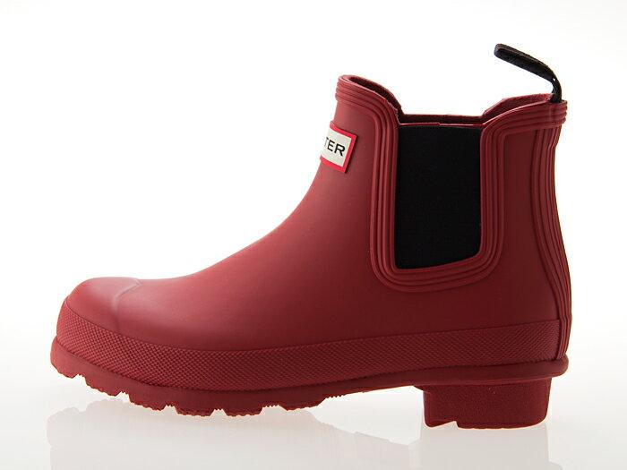 ≪即日発送可能商品≫ [ハンター] HUNTER WOMENS ORIGINAL CHELSEA SHORT BOOT ハンター ウィメンズ オリジナル チェルシー ショートブーツ サイドゴア 長靴 レインブーツ レディースサイズ ミリタリーレッド MILITARY RED #WFS1043RMA-MLR