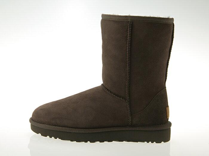 アグ UGG AUSTRALIA WOMENS CLASSIC SHORT II BOOTS ウィメンズ クラシック ショート 2 ブーツ レディース ムートンブーツ シープスキン CHOCOLATE チョコレート #1016223-cho