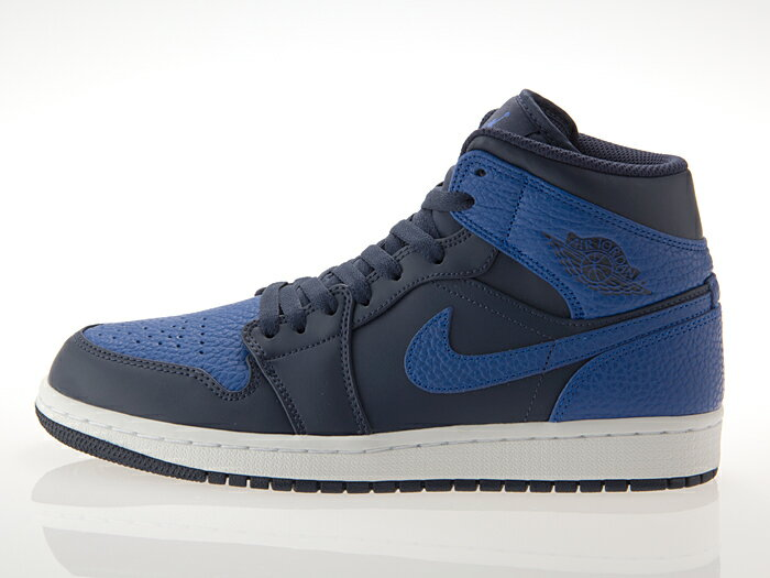[ナイキ] NIKE AIR JORDAN 1 MID エア ジョーダン 1 ミッド OBSIDIAN/GAME ROYAL/WHITE #554724-412