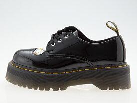 ドクターマーチン Dr.Martens 1461 QUAD HELLO KITTY 3HOLE SHOES 3ホール シューズ ブーツ 【ハローキティ コラボ】厚底 ローカット パテントレザー ヒール高さ 約5センチ レディース ガールズサイズ BLACK ブラック 黒 #25912009