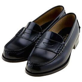 ハルタ HARUTA 3048 本革 レディース ローファー 学生靴 通学 ゆったり3E 日本製 正規取扱店 ブラック 黒 ハルタ3048 BL